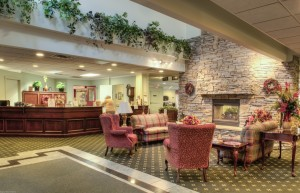 Welcoming lobby at Canterbury Court