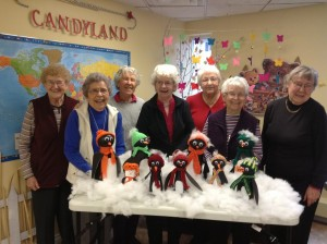 Polly, Anne, Joy, Tillie, Pearl, Maxine and Ruby.  Buddy & Doreen were still putting the finishing touches on theirs.