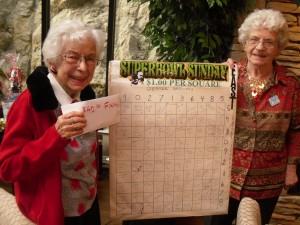 Helen & Tillie! Winners of the SUPER BOWL LOTTERY!