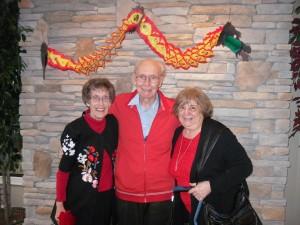 Jean, Edwin and Simoneau celebrating their birthdays!