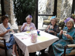 Lovely Ladies Celebrating Spring Tea with Beautiful Harpist Holly Smith!